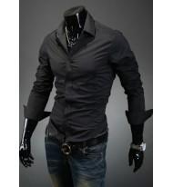 Спортно елегантна черна риза