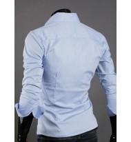 Мъжка светло синя риза