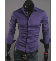 Мъжка лилава риза