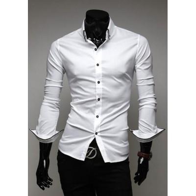 Страхотна мъжка бяла риза