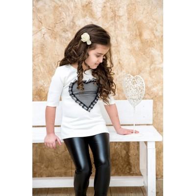 Leggings in ecopelle (figlia)