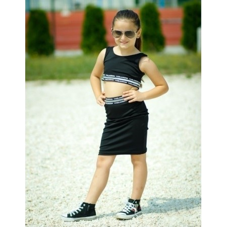 Completo crop top e gonna (figlia)