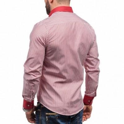 Camicia a righe maniche lunghe