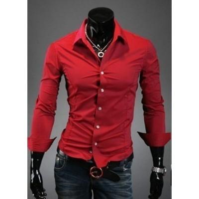 Вталена мъжка червена ризаа