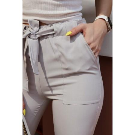 Pantalone con citura e...